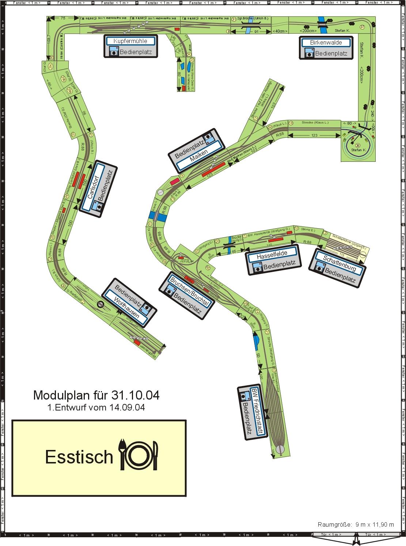 Modulplan Wakendorf Oktober 2004